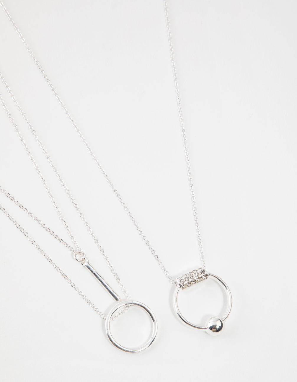 Silver 3-Row Necklace