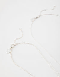 Silver 3-Row Necklace - link has visual effect only
