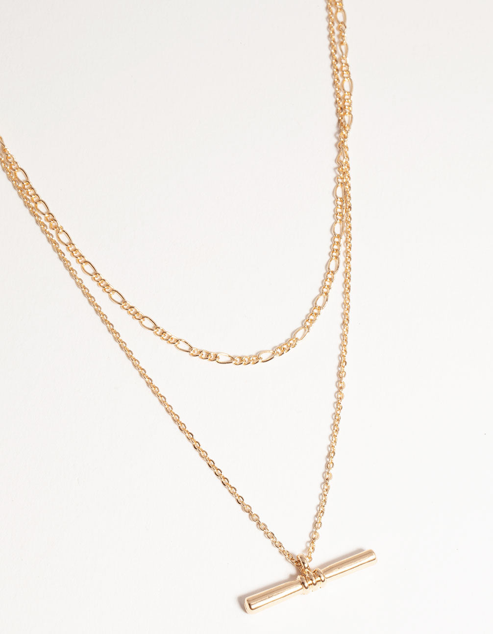 Gold Short Fine 2-Row Necklace