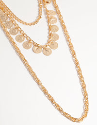 Long Coin 3-Row Necklace - link has visual effect only