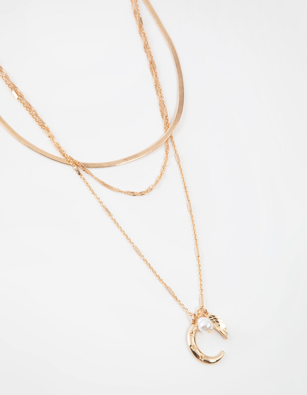 Gold Short Celestial 3-Row Necklace
