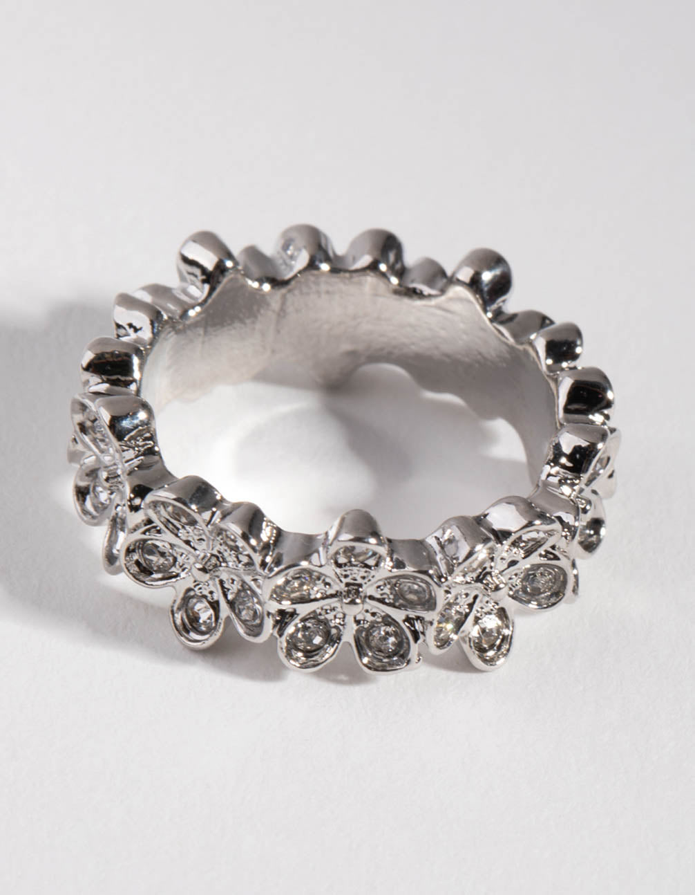 Silver Surround Flower Ring