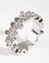 Silver Surround Flower Ring - link has visual effect only