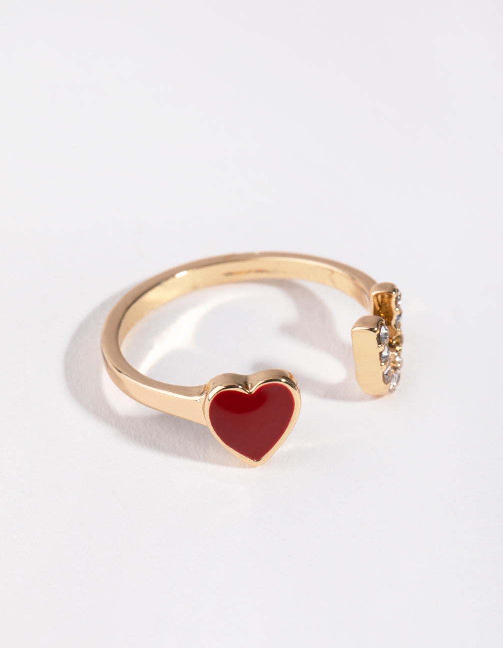 Gold Heart & U Ring