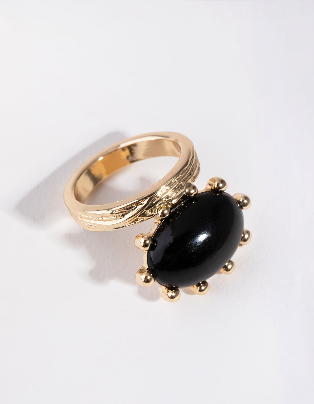 Gold Dome Stone Ring
