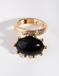 Gold Dome Stone Ring - link has visual effect only