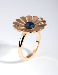Gold Mood Flower Ring - link has visual effect only