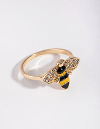 Vintage Gold Cry Bee Ring - link has visual effect only