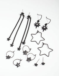 Matte Multi Star 6-Pack Earrings - link has visual effect only