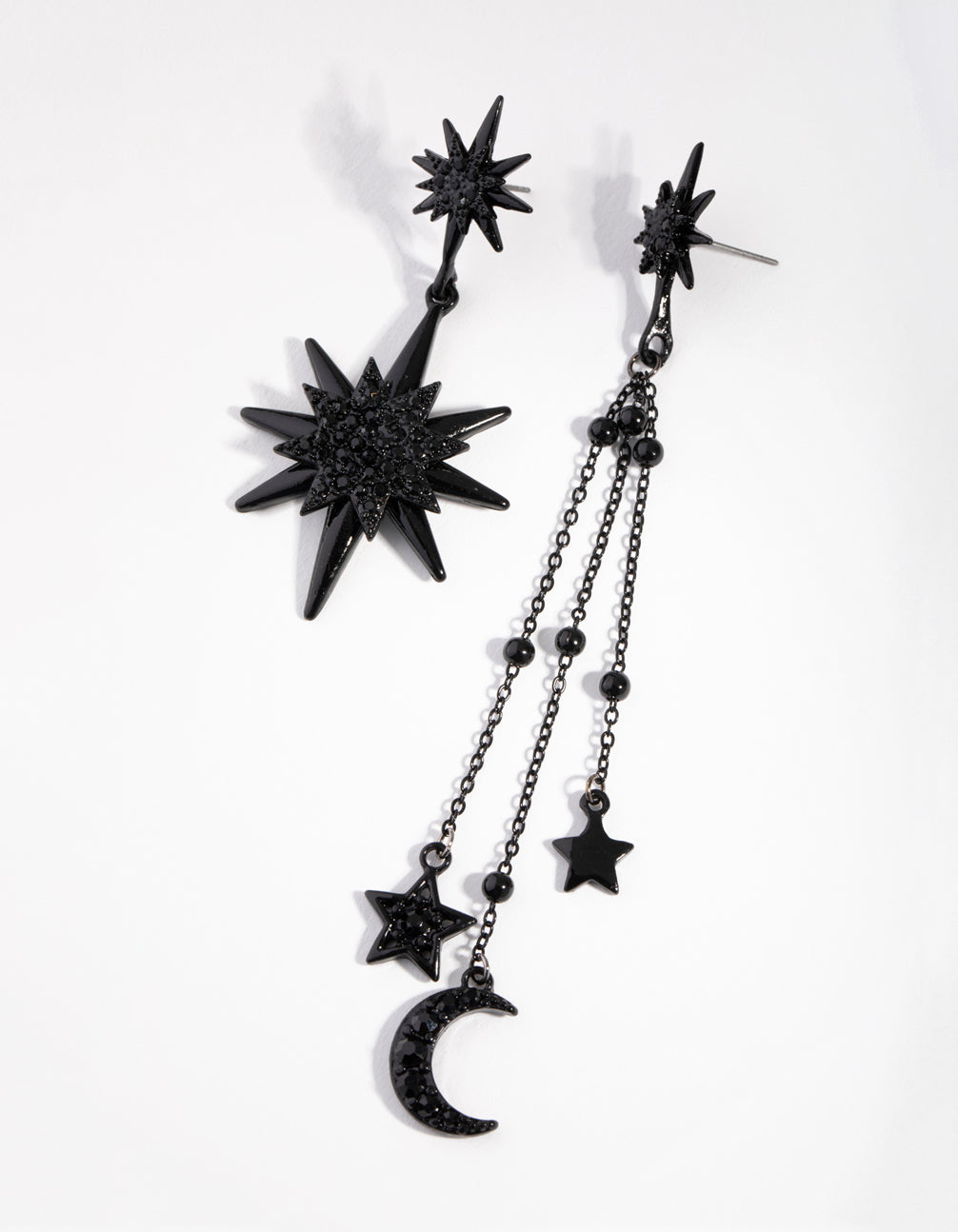 Matte Mismatch Celestial Earrings