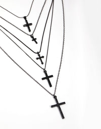 Matte Multi Cross 5-Row Necklace - link has visual effect only