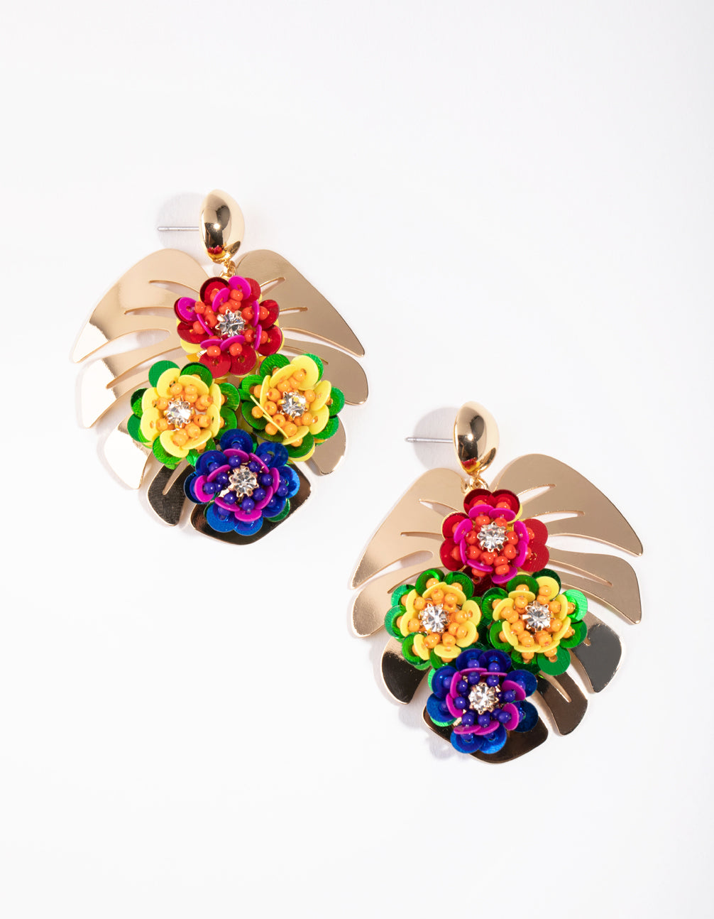 Monstera Flower Bed Earrings
