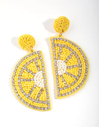 Sunshine Bright Statement Lemon Slice Earrings - link has visual effect only