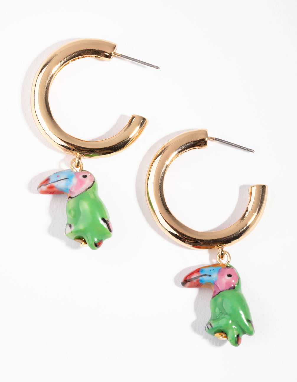 Toucan Huggie Earrings