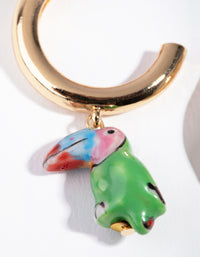Toucan Huggie Earrings - link has visual effect only