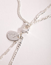 Silver 2-Row Figaro Necklace - link has visual effect only