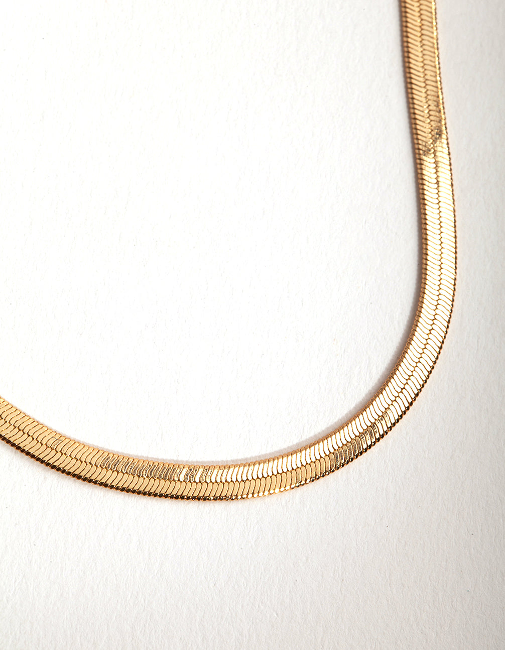 Gold Plated Snake 60cm Necklace