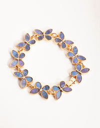 Gold Inlay Butterfly Bracelet - link has visual effect only