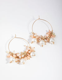 Gold Small Bead Cluster Drop Earrings - link has visual effect only