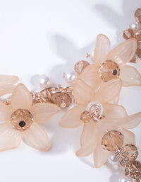 Rose Gold Opaque Flower Y-Neck Necklace - link has visual effect only