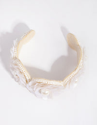 Sequin Flower Pearl Cuff - link has visual effect only