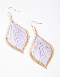 Gold Harp Drop Earrings - link has visual effect only