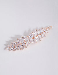 Rose Gold Cubic Zirconia Multi Laurel Clip - link has visual effect only