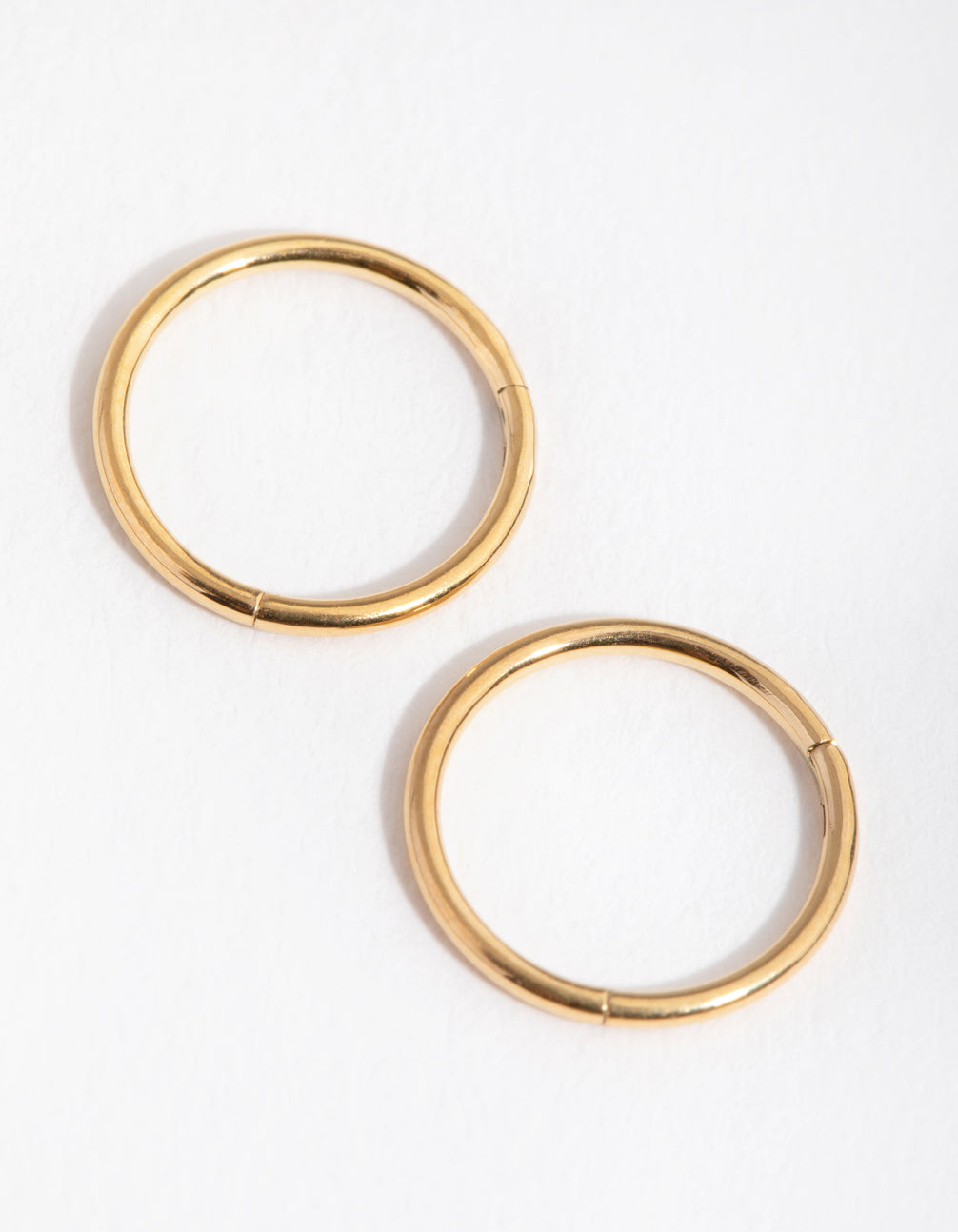24 Carat Gold Plated Surgical Steel 8mm Sleeper Earrings