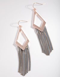 Rose Gold Mini Snakechain Earrings - link has visual effect only