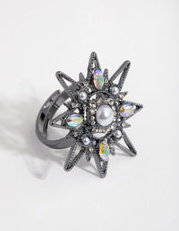 Gunmetal Statement Star Ring - link has visual effect only