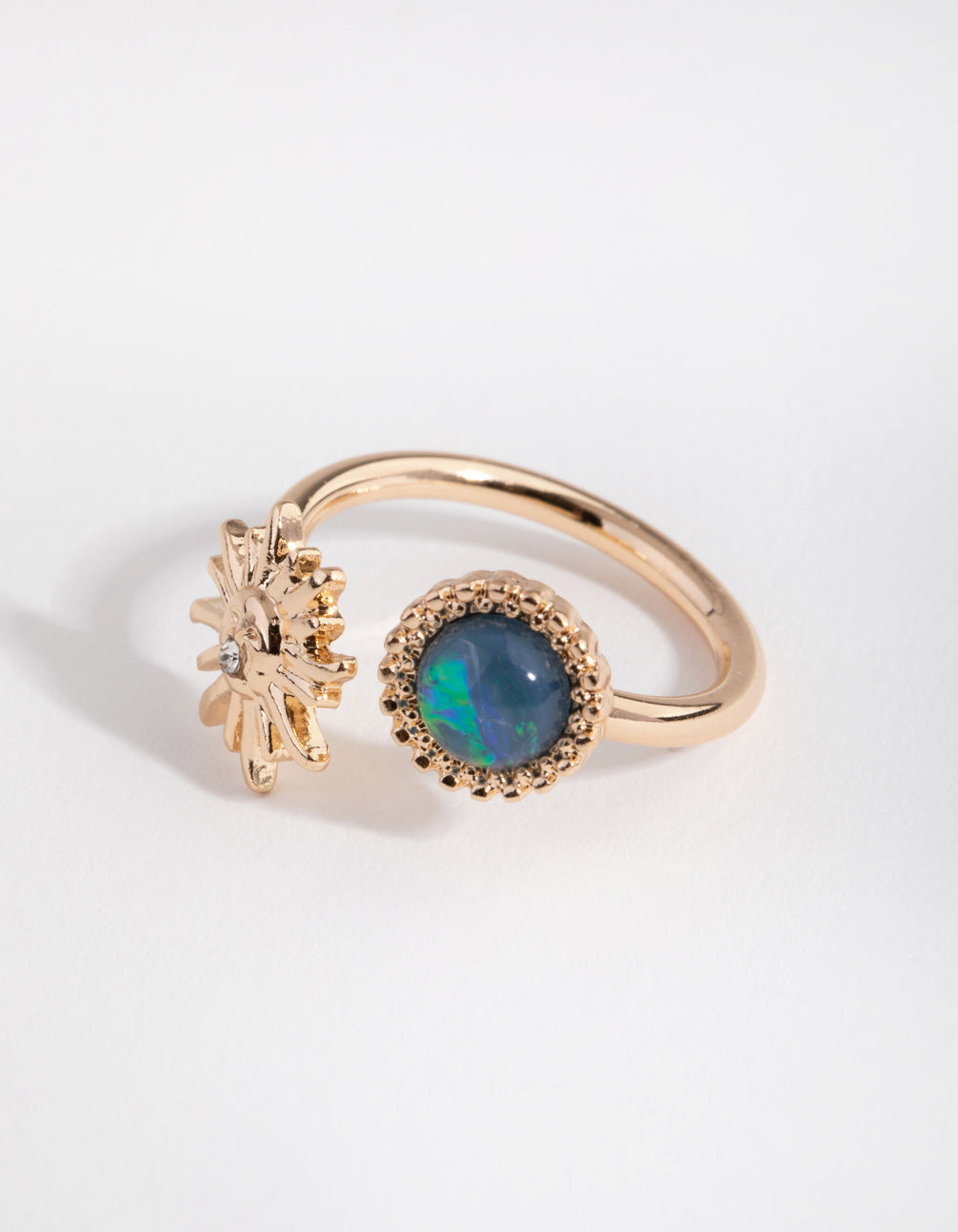 Gold Stone and Sun Ring