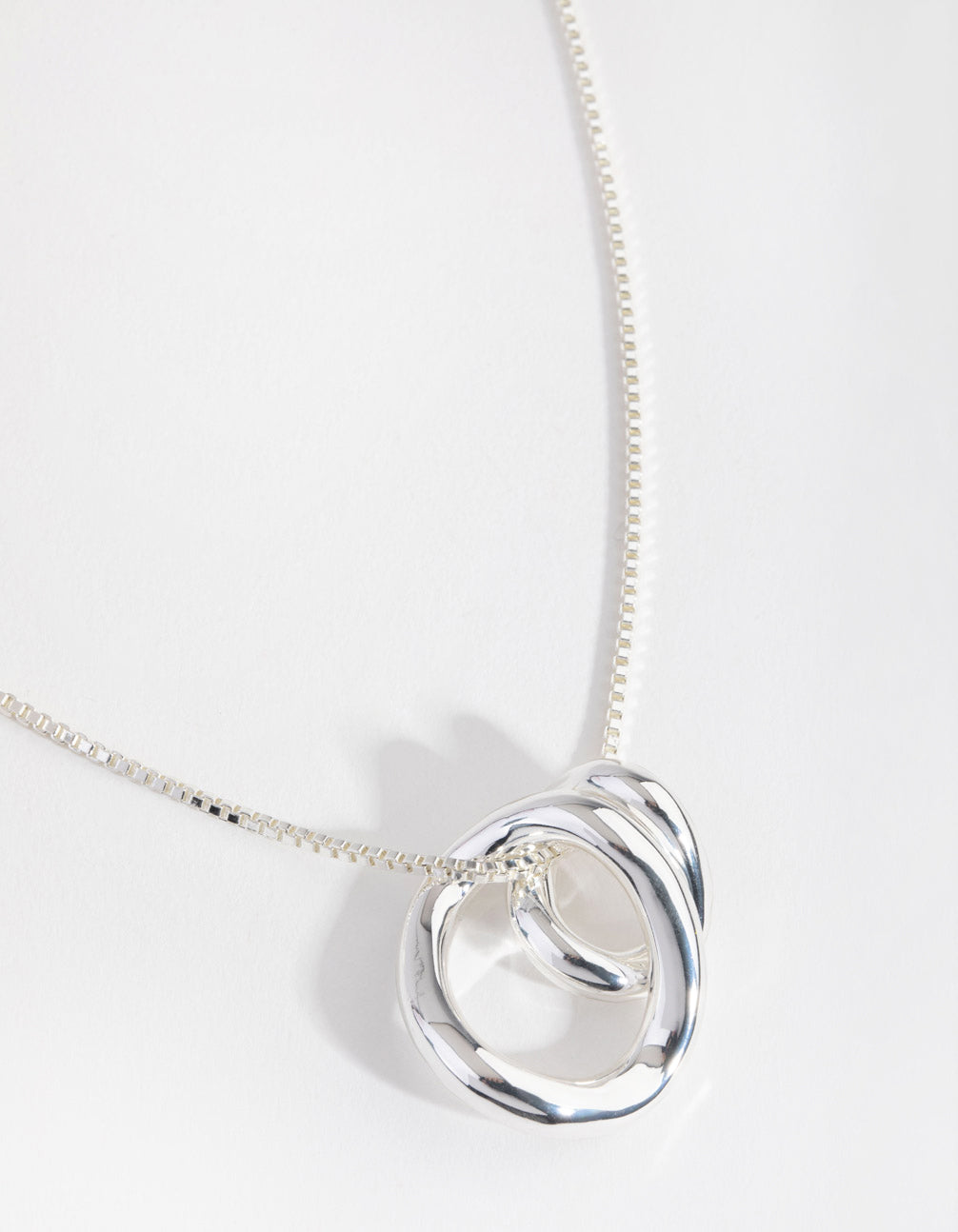 Real Silver Plated Swirl Pendant Necklace