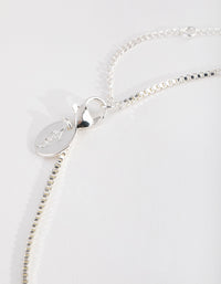 Real Silver Plated Swirl Pendant Necklace - link has visual effect only