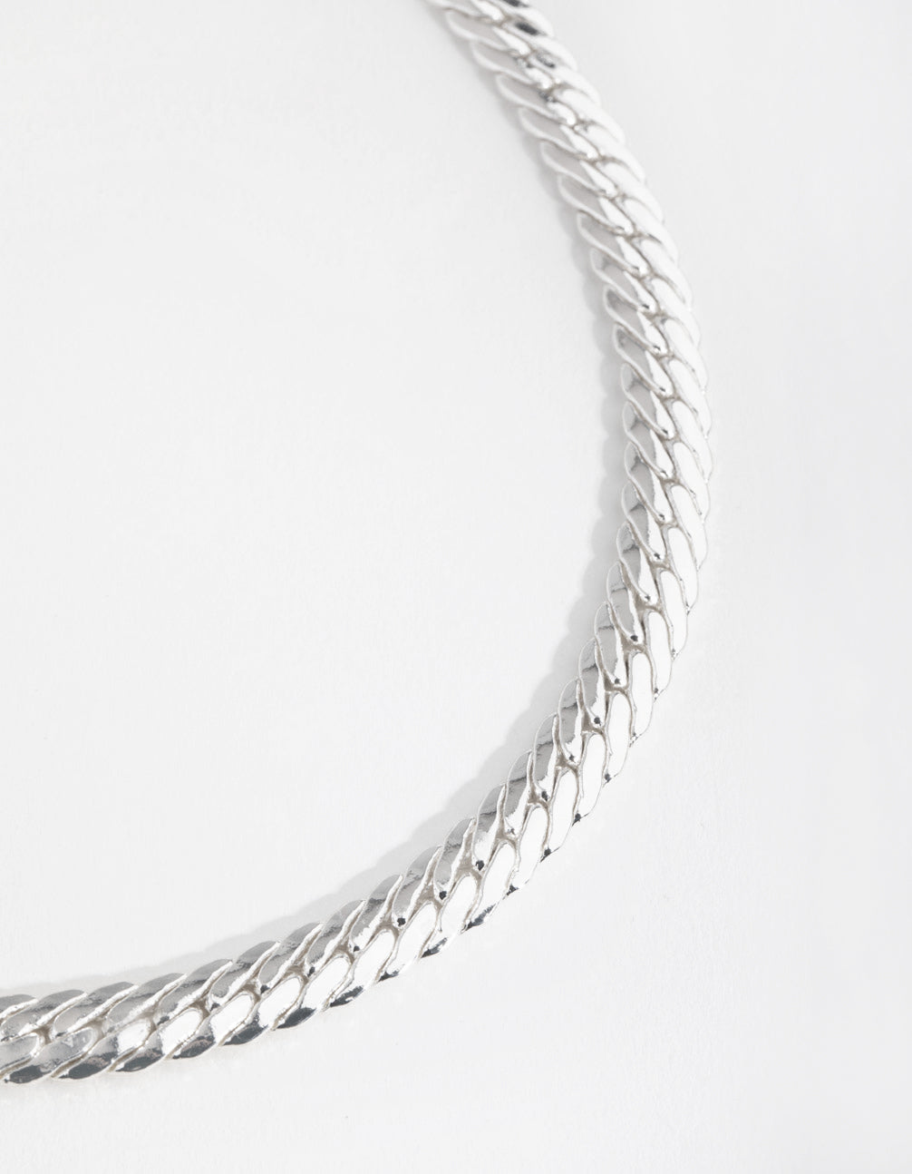 Real Silver Plated Hook Chain Necklace