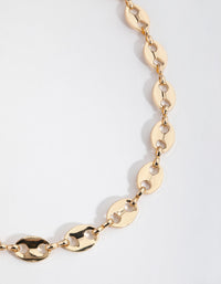 Real Gold Plated 45cm Circle Mariner Necklace - link has visual effect only
