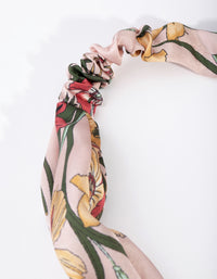 Fabric Floral Stretch Turban Headband - link has visual effect only