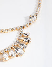 Gold Drape Crystal Headchain - link has visual effect only