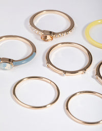Gold Fine Matte Mix 7-Pack Rings - link has visual effect only
