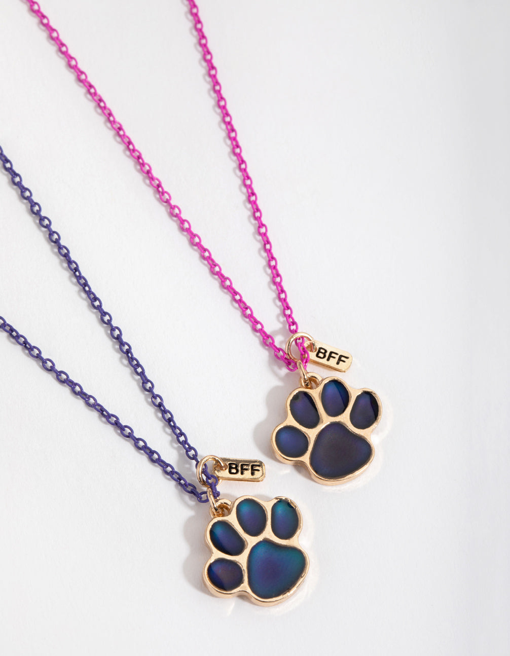Gold Paw Mood Best Friend Necklace