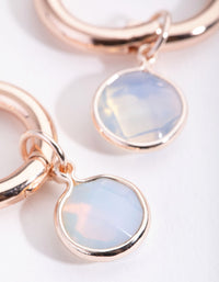 Rose Gold Facet Circle Huggie Earrings - link has visual effect only