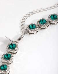 Rhodium Classic Halo Necklace - link has visual effect only