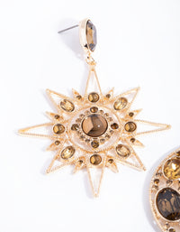 Gold Statement Star and Moon Earrings - link has visual effect only