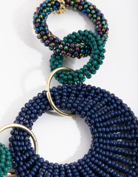 Bead Interlock Hoop Necklace - link has visual effect only