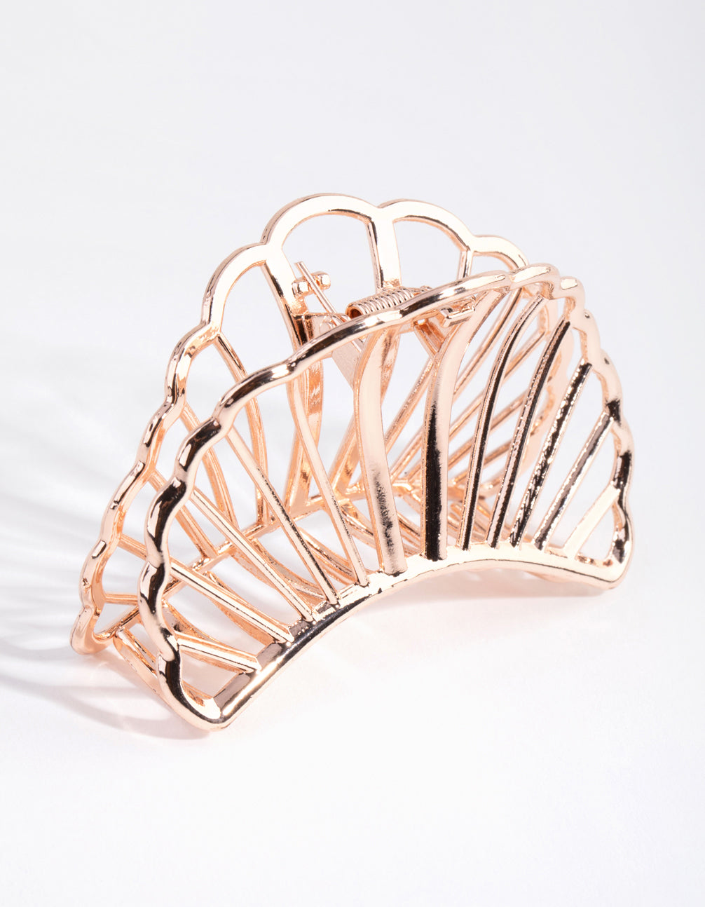 Rose Gold Shell Cutout Claw