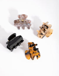 Acrylic Mini Mixed Tortoise Shell 4-Pack Claws - link has visual effect only