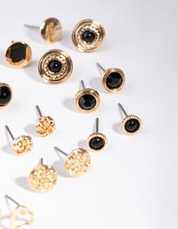 Gold Love Big Stud 8-Pack Earrings - link has visual effect only