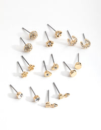 Gold Little Luck 8-Pack Earrings - link has visual effect only
