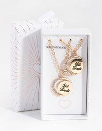 Gold Best Friend Crescent Moon 2-Pack Necklaces - link has visual effect only