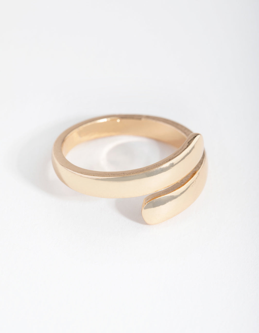 Gold Smooth Wrap Ring