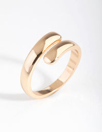 Gold Smooth Wrap Ring - link has visual effect only